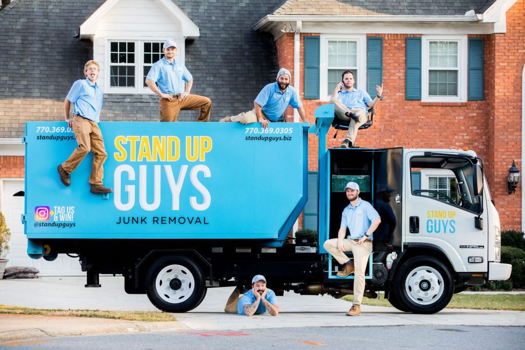 atlanta junk removal crew sitting by their truck