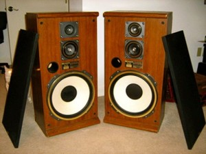 household junk removal with stereos and speakers