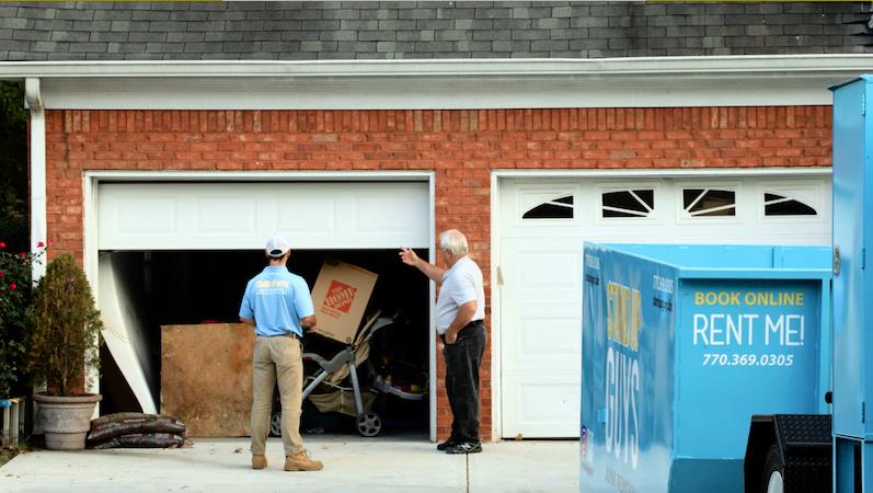 garage junk removal with dumpster rental