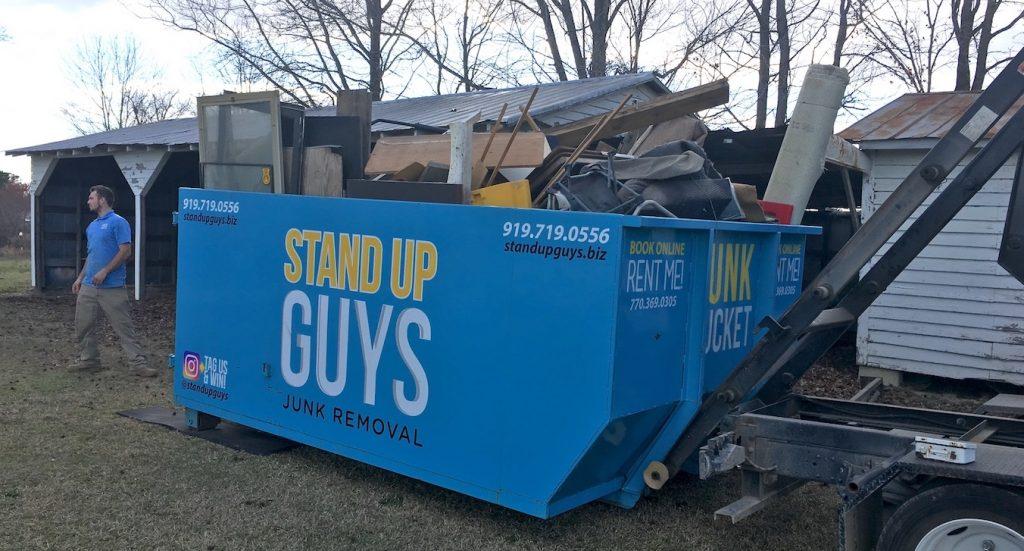 remodeling debris dumpster