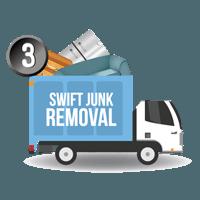 Swift junk removal truck