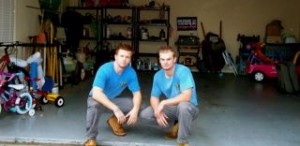 two men in garage