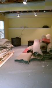 pile of old junk carpet
