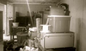 basement with junk in alpharetta