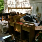 driveway full of junk