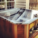 old junk hot tub