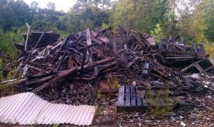 pile of junk and wood