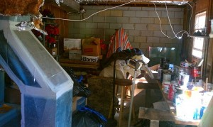 basement full of junk