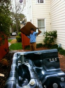 hot tub removal and disposal