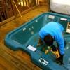 taking apart a hot tub in Atlanta