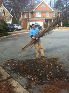 Stand Up Guys cleaning up debris in Dunwoody