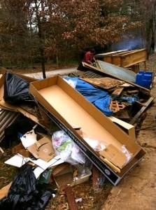 Pile of junk in Johns Creek