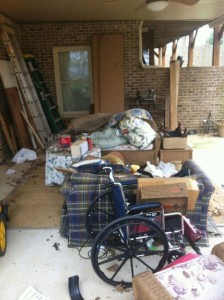 A huge pile of junk in this Roswell home
