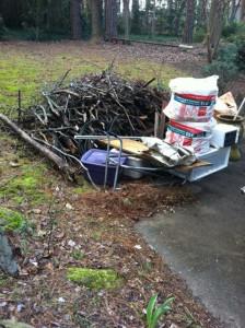 Junk pile in Ansley Park, Atlanta