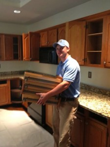 Kitchen demo in Woodstock with the stand up guys