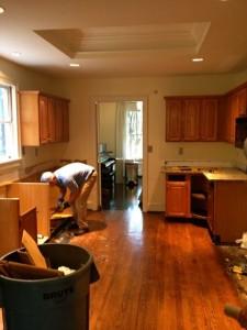 old junk kitchen demo in woodstock