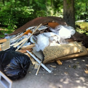 junk pile to be removed from alpharetta