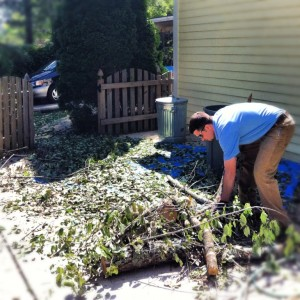 lawn debris clean up from atlanta