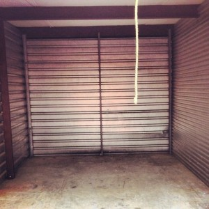 storage unit cleaned of all its junk