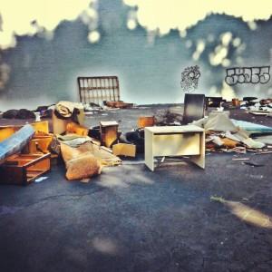 junk pile in woodstock, ga