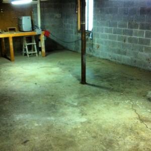 basement cleaned of junk