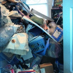 bedroom filled with junk in johns creek