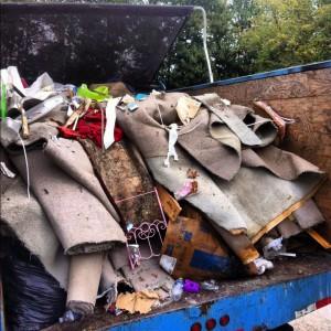 junk removal truck full