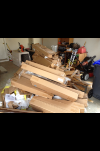 Leftover moving boxes