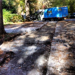this is what the north druid hills driveway after the stone was removed