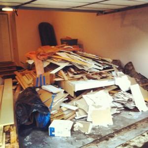 garage junk pile