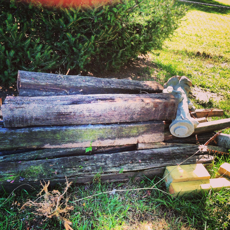 pile of yard debris in norcross