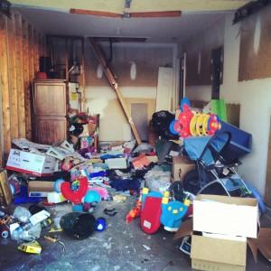 garage full of junk in duluth