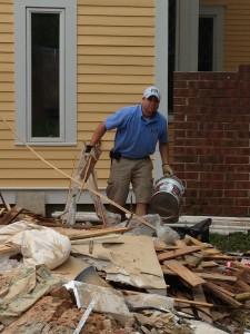 construction debris pile in marietta