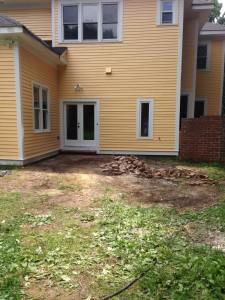 construction debris pile removed