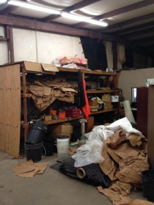 piles of junk in atlanta warehouse