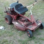 junk riding lawn mower