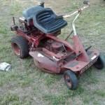 junk riding lawn mower