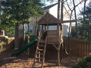 removal of an old playset in raleigh